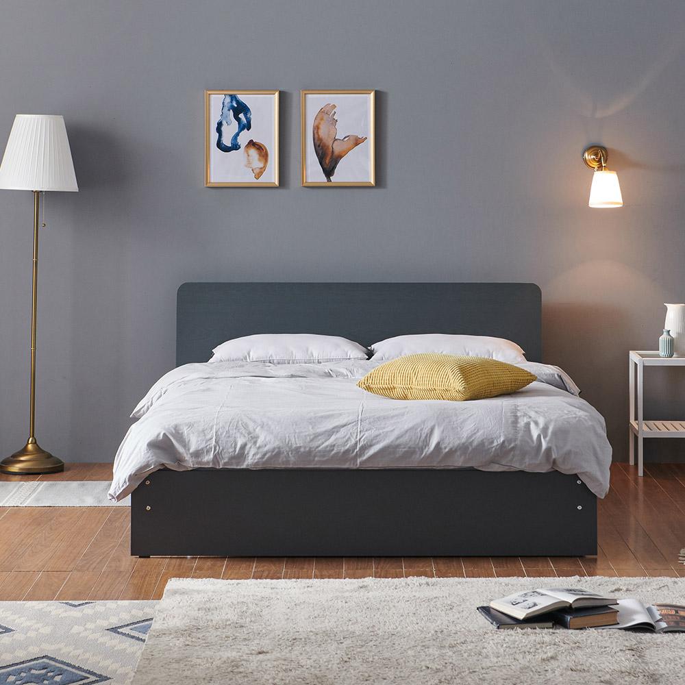 크렌시아 딜라이트 밀리 일반형 슈퍼싱글/퀸 침대+본넬 매트리스+방수커버, 그레이