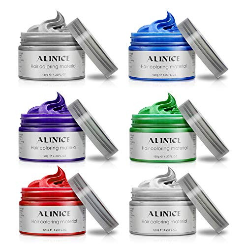 헤어왁스 ALINICE Hair Wax Professional Color for Men and Women 6Pcs, Color = 6 color, 본문참고, 본문참고