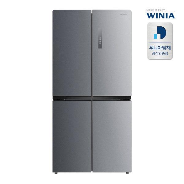 [딤채] [위니아] 세미빌트인 중형냉장고 WRB480DMS 479L 마일드실버 전국무료배송, 상세 설명 참조