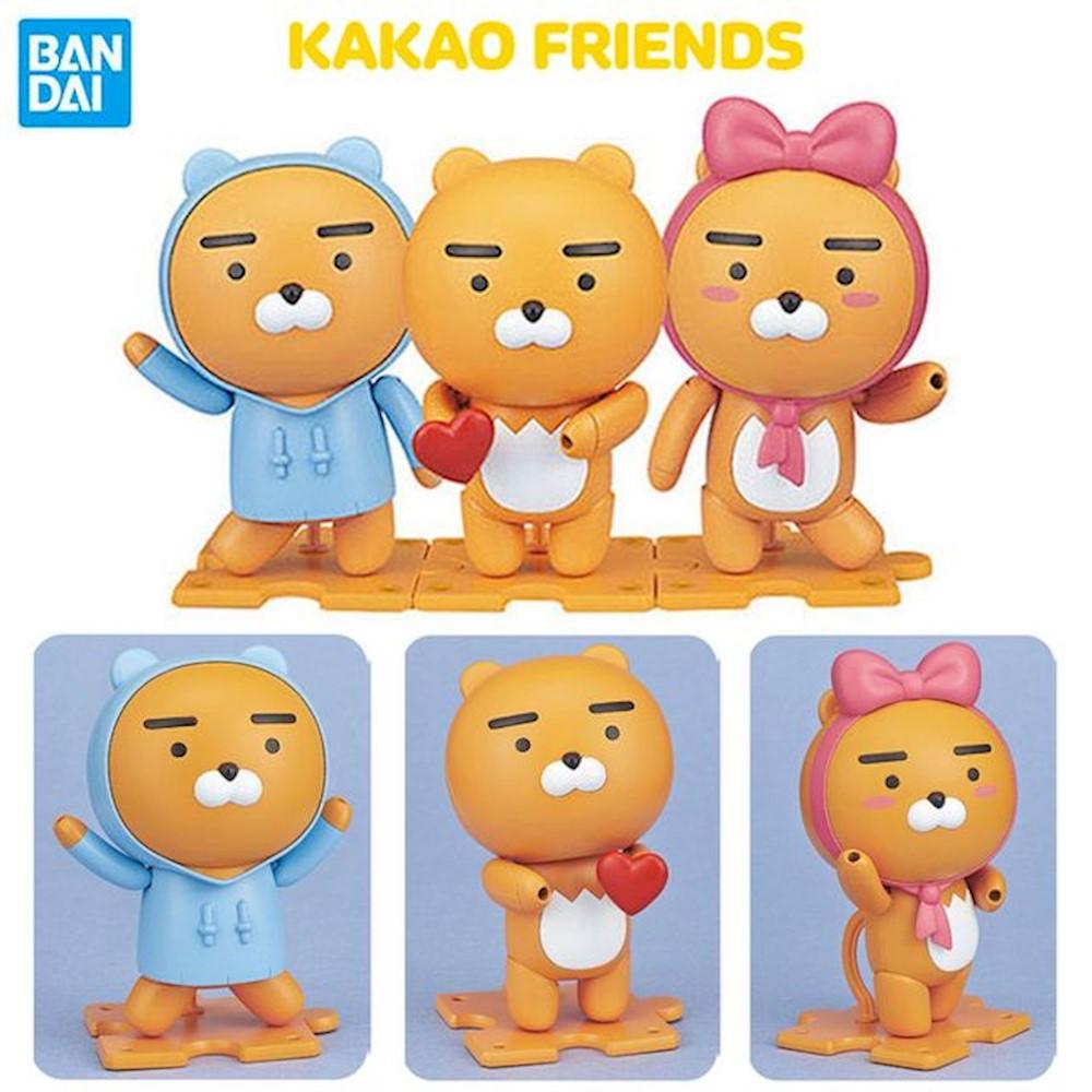 카카오 프렌즈 프라모델 라이언 3종 세트 캐릭터 피규어 완구 모형 장난감 upfu 1개