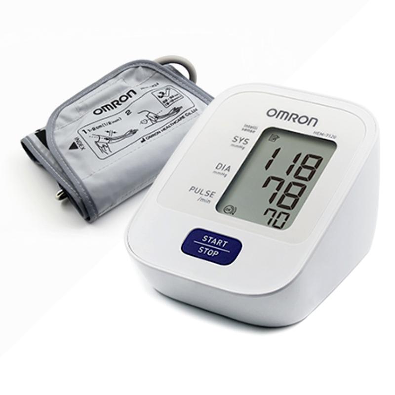 그랜드메디 오므론 전자혈압계 HEM-7120 자동 가정용 AA건전지 4개포함 혈압계, 1개