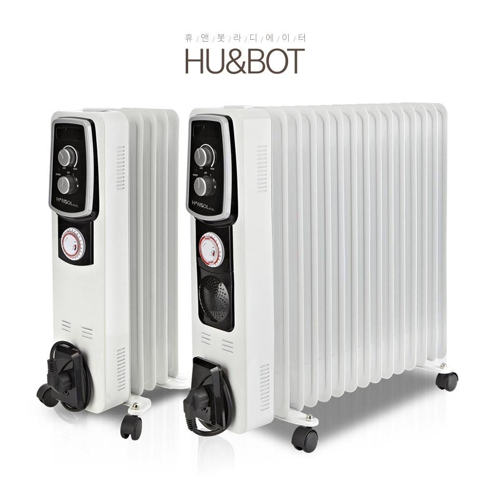 휴앤봇 타이머형 전기 라디에이터 욕실 난방기 HEO-50T 화장실 동파방지 히터 사무실, 단일상품