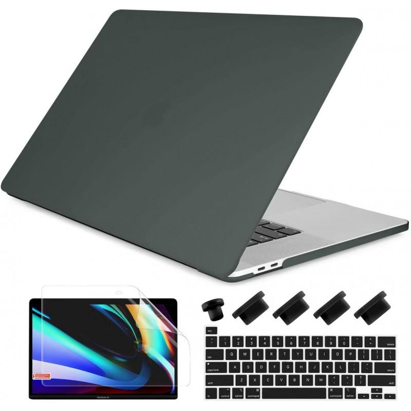 MacBook Pro 16 인치 케이스용 동글 키보드 커버 스킨이있는 2019 2020 릴리스 A2141 터치 바 하드 쉘 커, 단일상품