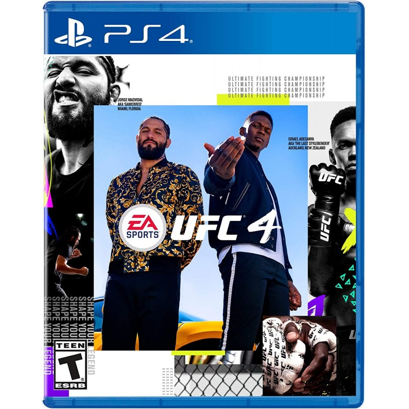 UFC 4 PS4 LATAM 버전 스페인어 / 영어 / 프랑스어, 단일상품