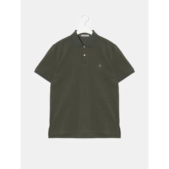 빈폴 [빈폴] Unisex 카키 배색 로고 칼라 티셔츠