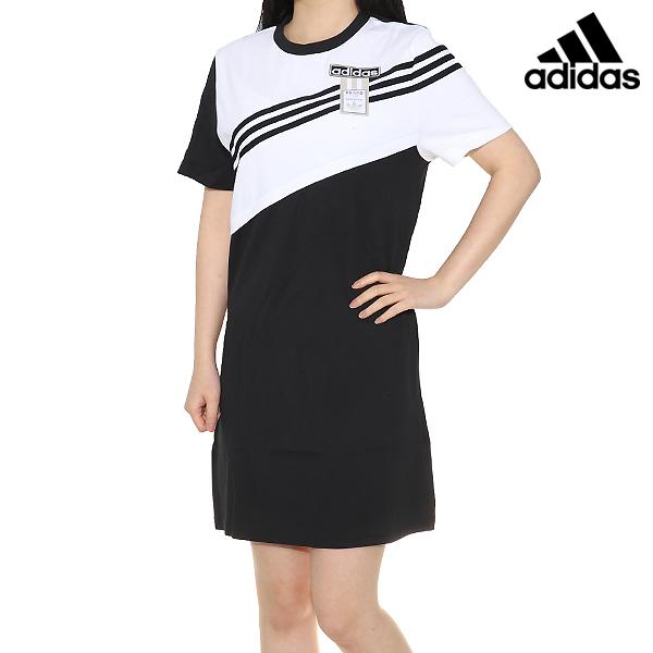 아디다스 오리지널원피스 데일리원피스 드레스티셔츠 아디브레이크 드레스 흰검 스포츠 원피스