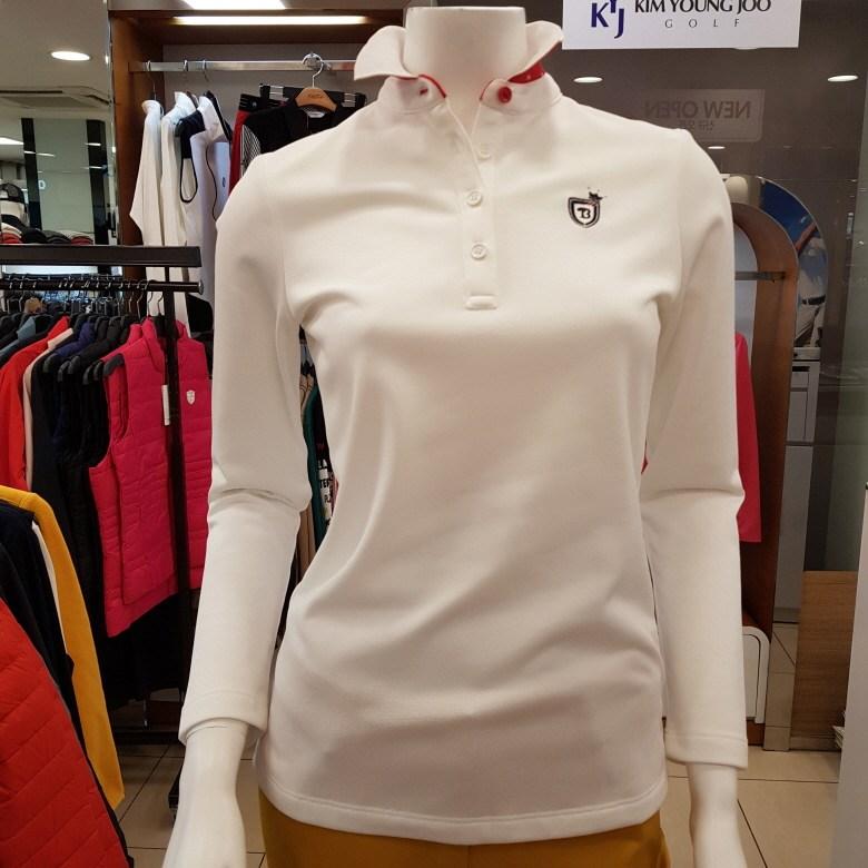 김영주골프 [주문폭주상품] 컬러감이 예쁜 카라배색 포인트 여성 골프티셔츠