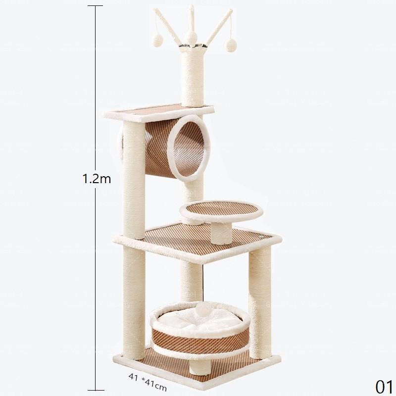 굿데이 컴퍼니 대형 원목 캣타워 캣폴 고양이타워 고양이캣타워 고양이캣폴 고양이놀이기구 하우스 vMPJ04, 1개, 01