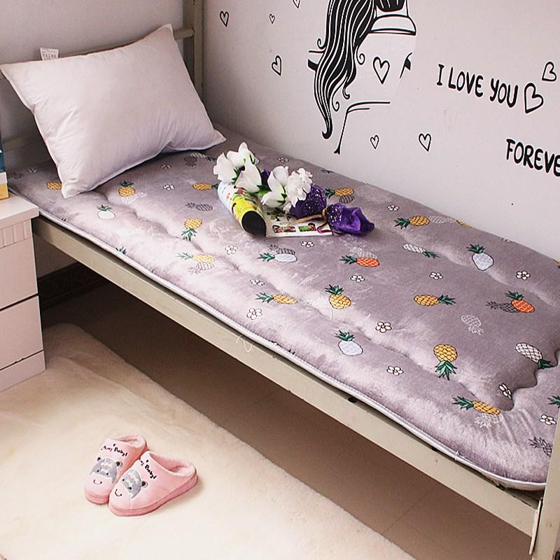 토퍼 템퍼 매트리스 침구 기타 싱글 학생 기숙사 털 퍼 다운 침대 요, AL_90 x 190