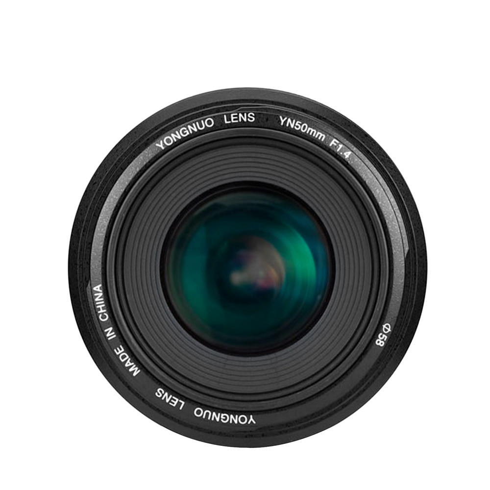 용인 yn50mm 렌즈 yn50mm f1.4 표준 프라임 렌즈 캐논 eos 70d 5d2 5d3 600d dslr 카메라 용 대형 조리개 자동 초점 렌즈, 1개