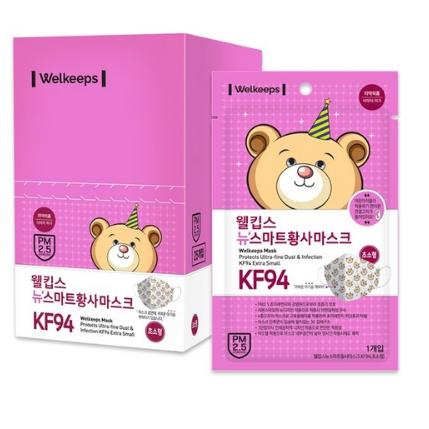웰킵스 뉴스마트 황사마스크 KF94 초소형, 25개