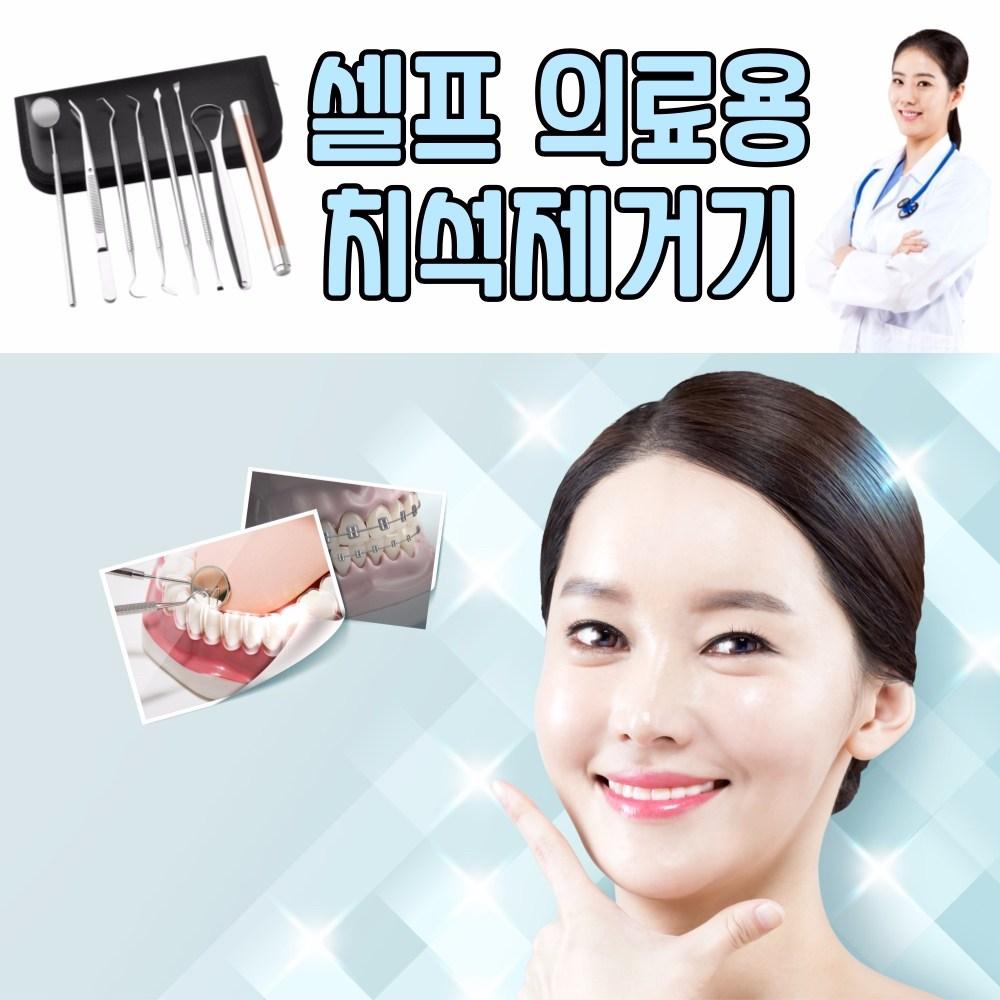 에식 셀프스케일러 치과기구 치아 가정용 스케일링 스케일러 스켈링 의료용 치석제거기, 1개
