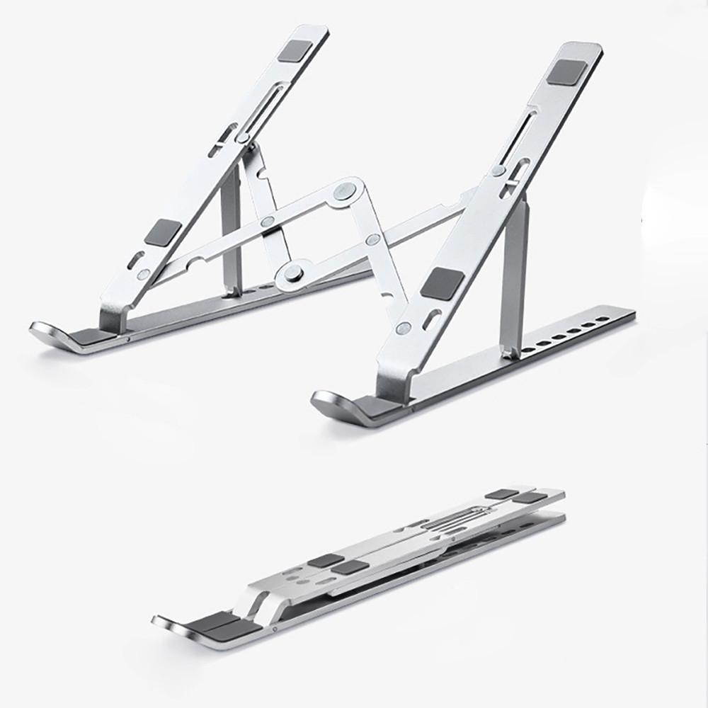 가벼운 휴대용 알류미늄 접이식 받침대 높이조절 노트북 거치대 논슬립 15 17인치 M-1-16-2316643500
