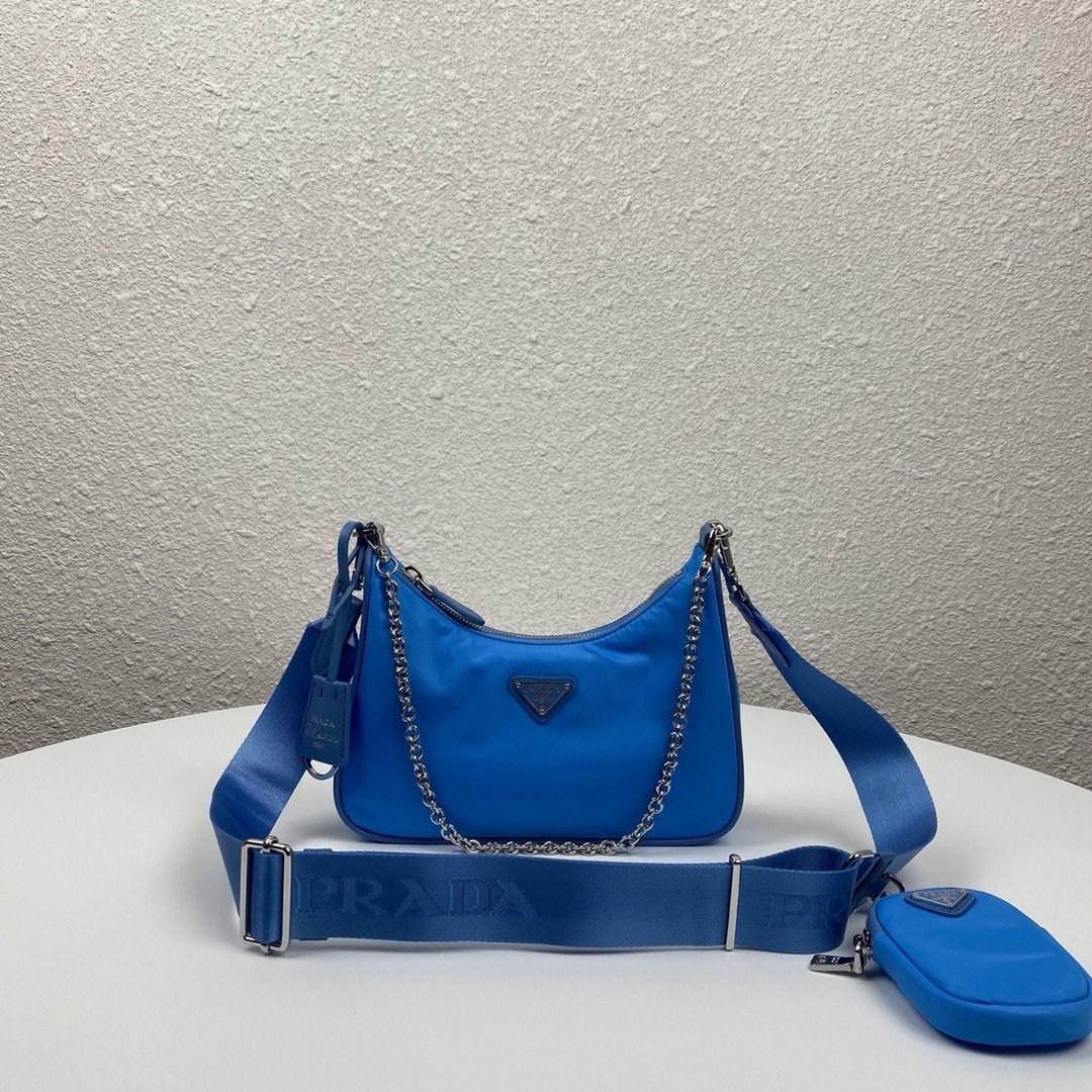 프라다 테수토 호보백 1BH204 블루