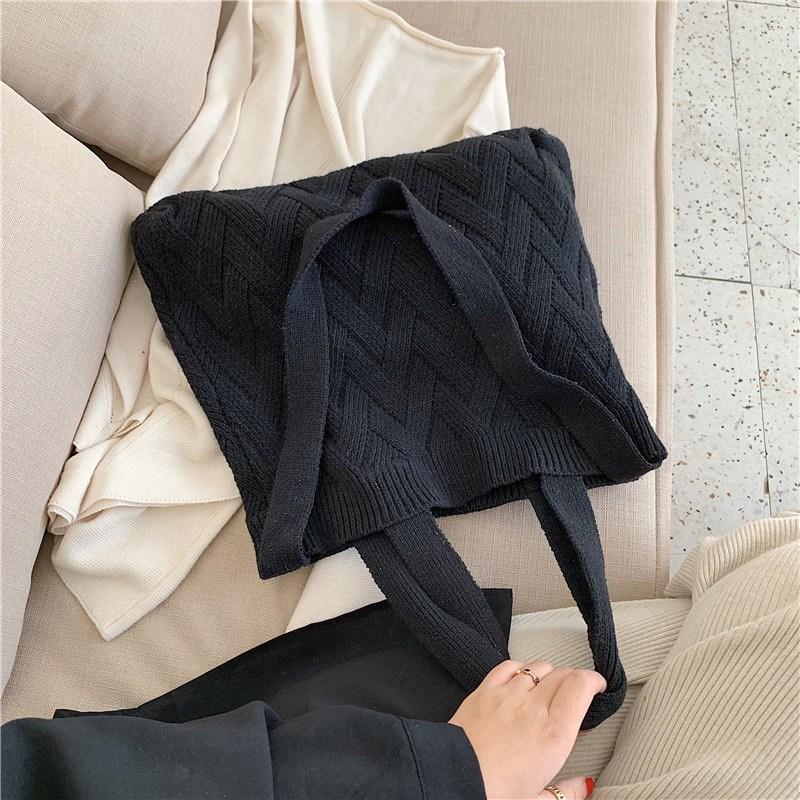 여성 가방 3종 니트 지그재그 뜨개질 숄더 크로스백