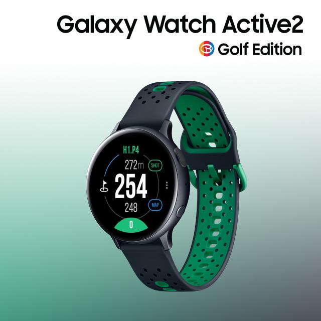 삼성 갤럭시 워치 액티브2 골프 에디션 GPS 골프거리측정기(44mm), 선택:블랙_44mm