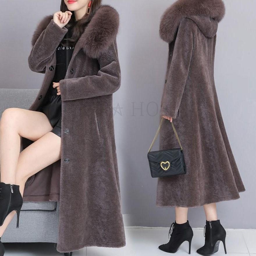 kirahosi 겨울 밍크 코트 캐시미어코트 여성모피 겨울코트 13호덧신증정 CE0tn8xd