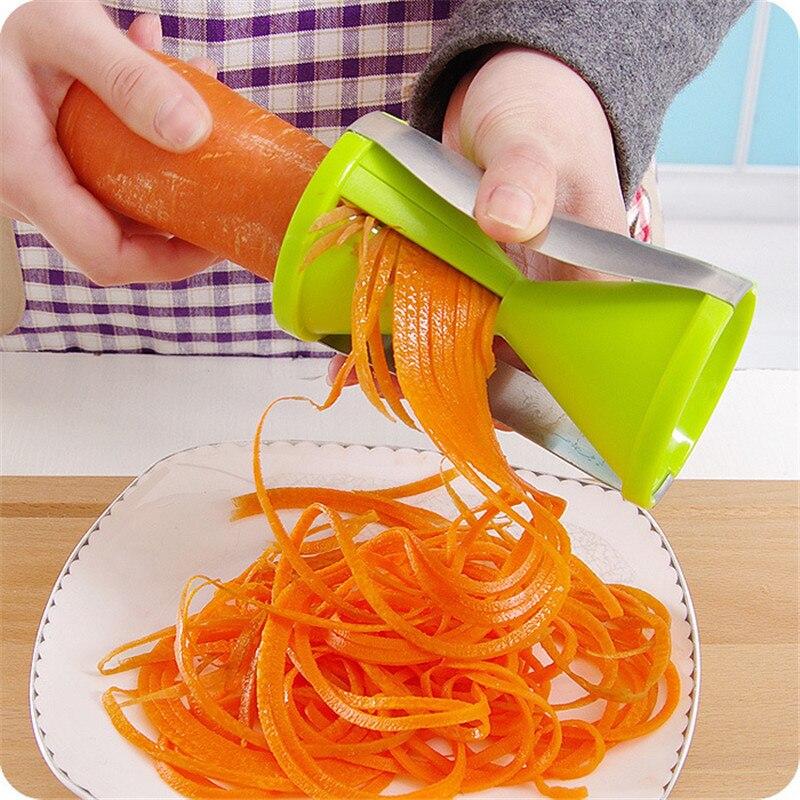 요리즐 스파이럴 야채회전채칼 슬라이서 야채국수 채소면 웰빙 건강 주방도구, 화이트