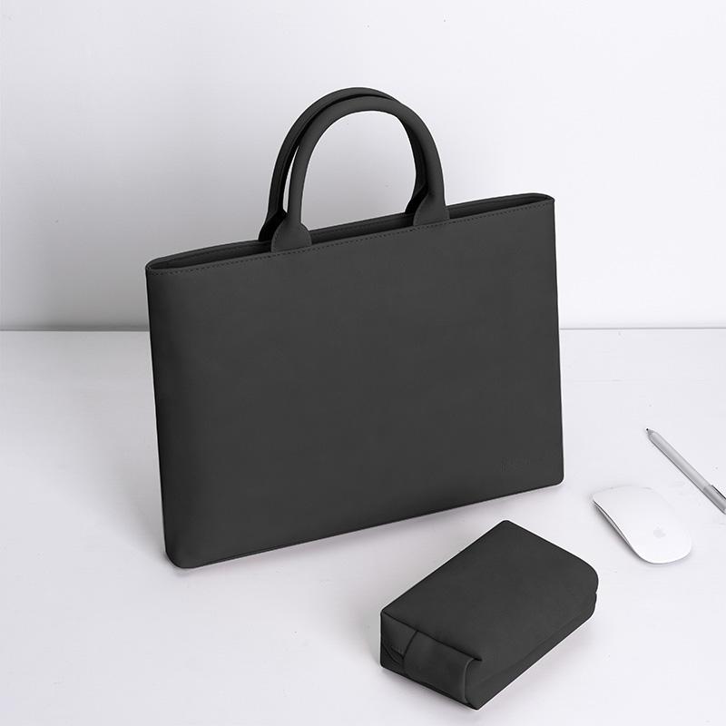 맥북16인치 노트북파우치 맥북에어 프로 노트북가방 13 14 15 15.6인치, 블랙 + 파우치 (지퍼형)