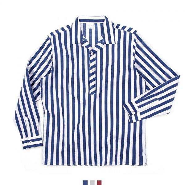 킹스맨 남자셔츠 카라 헨리넥 스트라이프 셔츠 BP0417020