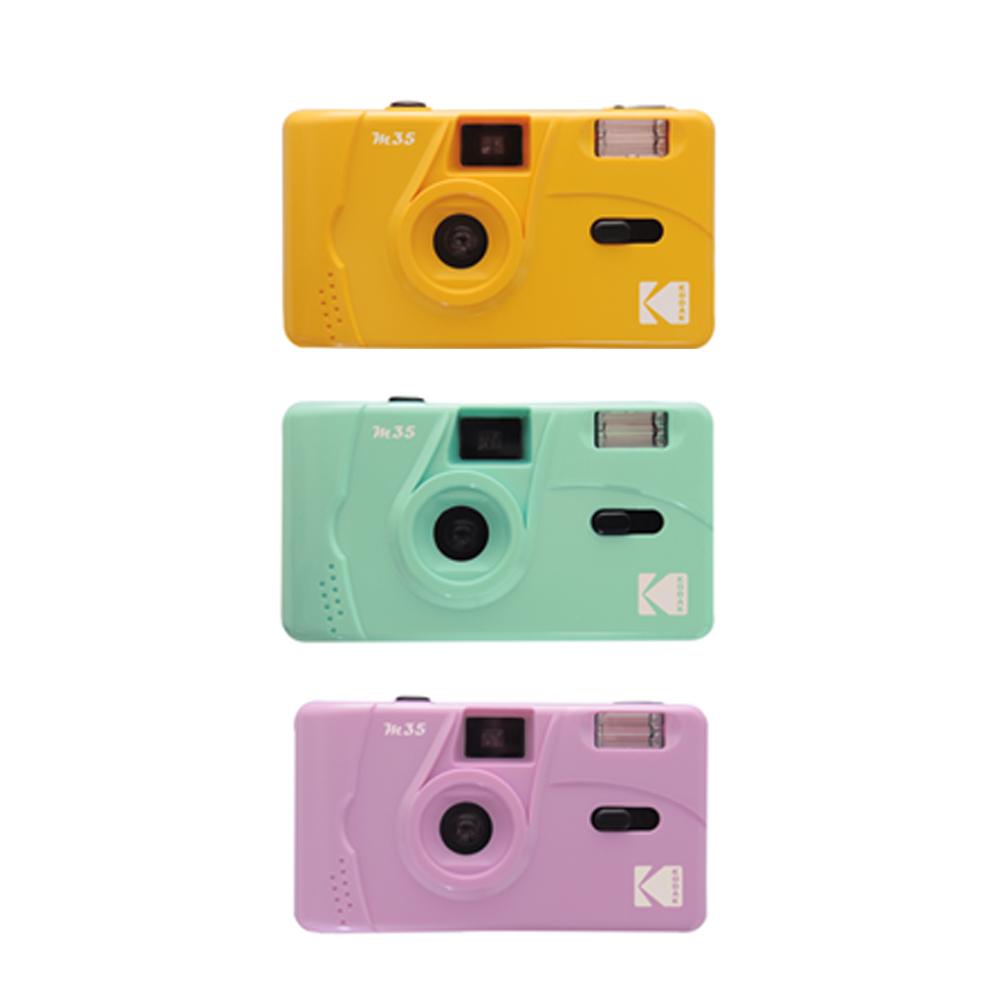 코닥토이카메라m35 필름카메라 입문용 옐로우 민트 퍼플 다회용 kodak, 옐로우+옵션1(M35카메라단품)