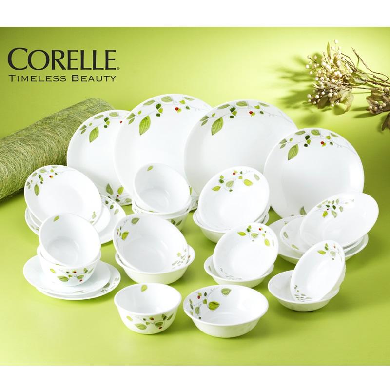 코렐 신상품 접시 공기 대접 그릇 홈세트, 코렐 그린브리즈 6인 28p