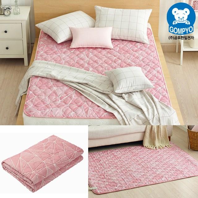 전자파 안심 전기요 침대용 거실용 캠핑용 전기장판 1인용 2인용, 대형(135cm × 180cm), 크로크 핑크