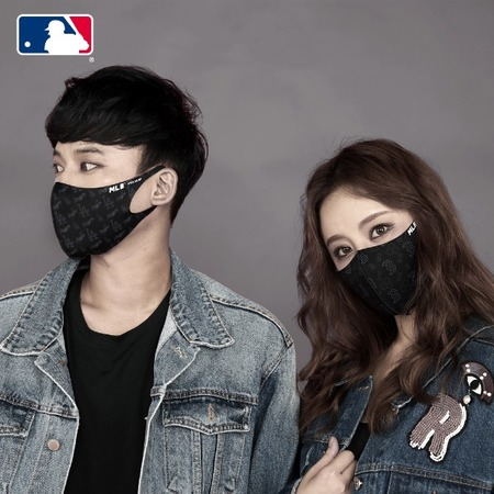 [멸치쇼핑]MLB 마스크 검정색 패션 연예인 마스크 정식 라이선스