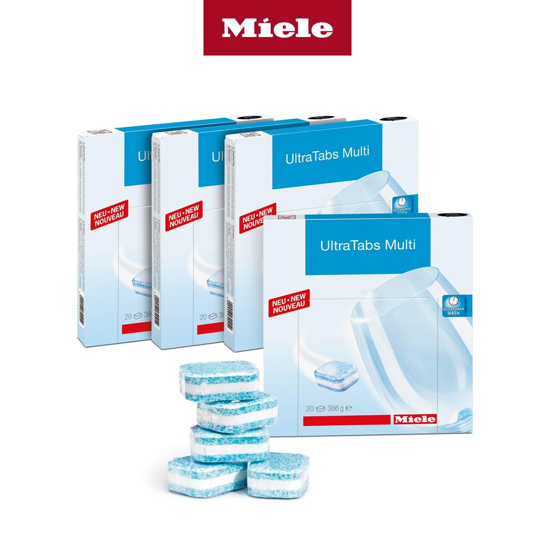 Miele 밀레 독일 프리미엄 식기세척기 태블릿 세제 울트라탭 멀티, 4박스