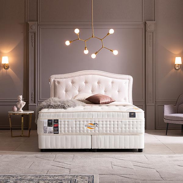 도르미릴렉스 헤스티아6400 라지킹 침대세트 dr5121, 누가베이지