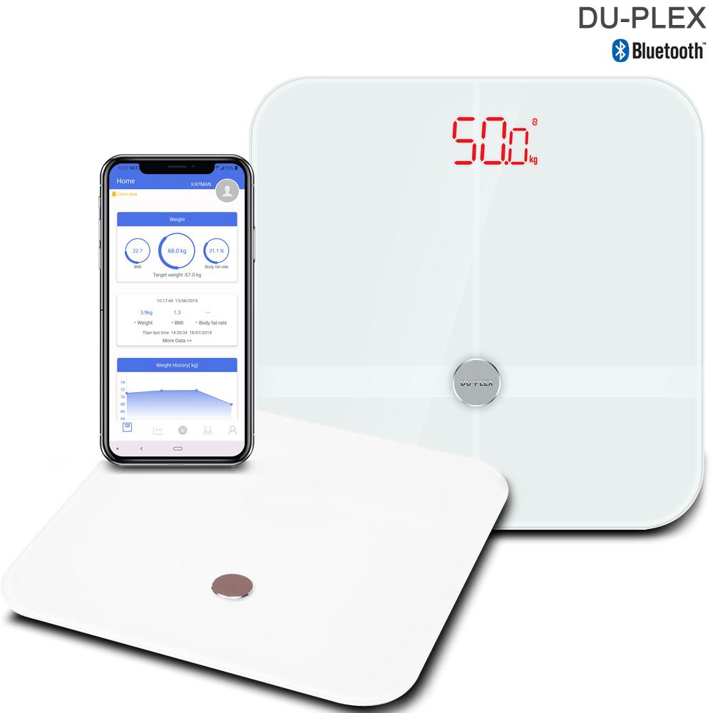 듀플렉스 블루투스 디지털 인바디 체지방 체중계 DP-7705BTS 체질량 측정, 화이트, DP-7707BTS