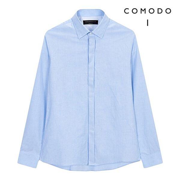 COMODO SQUARE 코모도스퀘어 웜터치 투톤 코튼 셔츠 9317304004