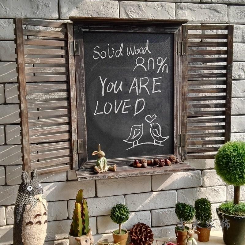 홈카페 홈포차 유럽 미국 복고풍 바 커피 숍 장식 나무 칠판, 훅 숯불이없는 블라인드