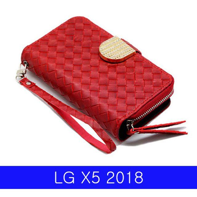 ksw7562 LG X5 2018 비니쉬 큐빅 지퍼월렛 LM_X510 pr747 케이스