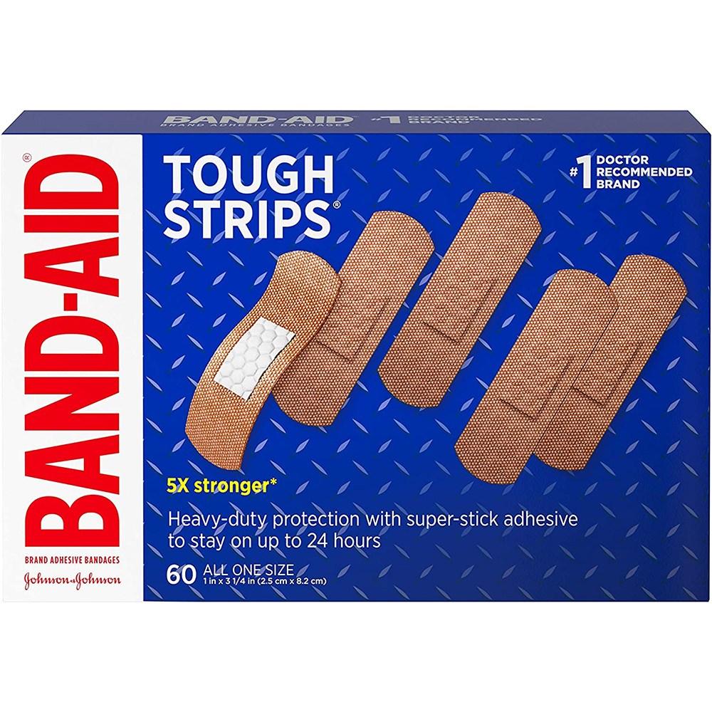 Band Aid 밴드 에이드 터프 스트립스 상처밴드 60개입 (POP 4717790582)