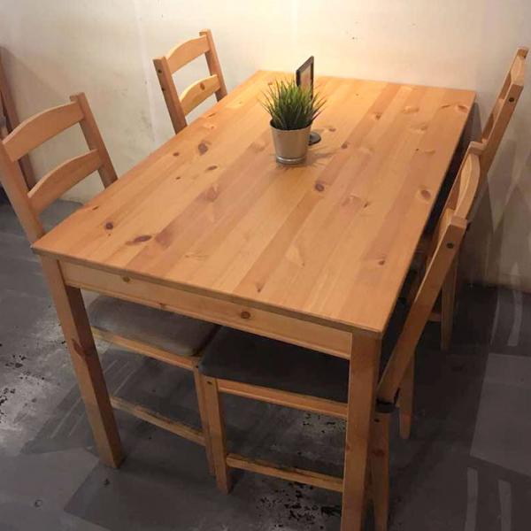 이케아 JOKKMOKK 4인용 원목 식탁세트/식탁1+의자4, 단품_202.111.05