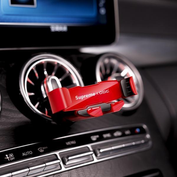 슈프림 핸드폰거치대 송풍구 중력 편안한 회전 홀더 차량용 브래킷 클립 (POP 5696760535)