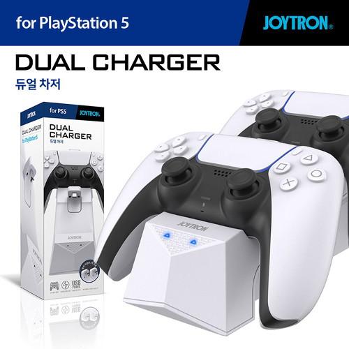 조이트론 PS5 듀얼센스 듀얼 차저 / 충전기 거치대 스탠드 독, PS5 듀얼차저