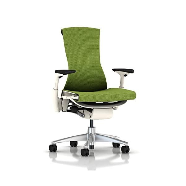 Herman Miller Embody Chair Berry Blue Balance, Green Balance