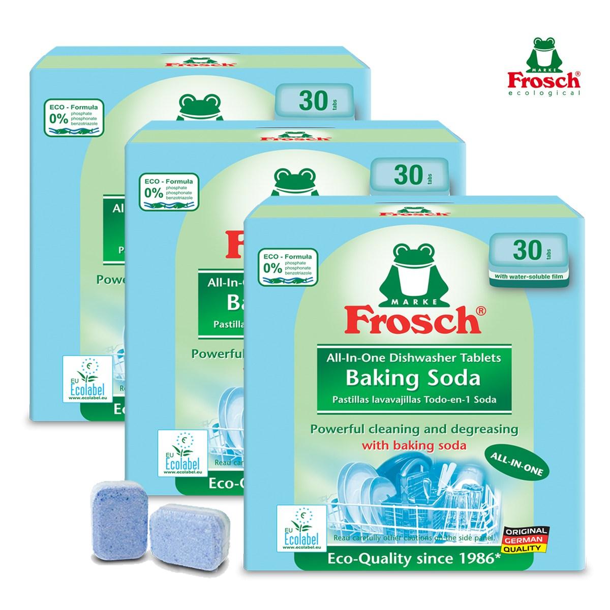 프로쉬 올인원 식기세척기전용세제 (소다-30개입)X3개, 단품