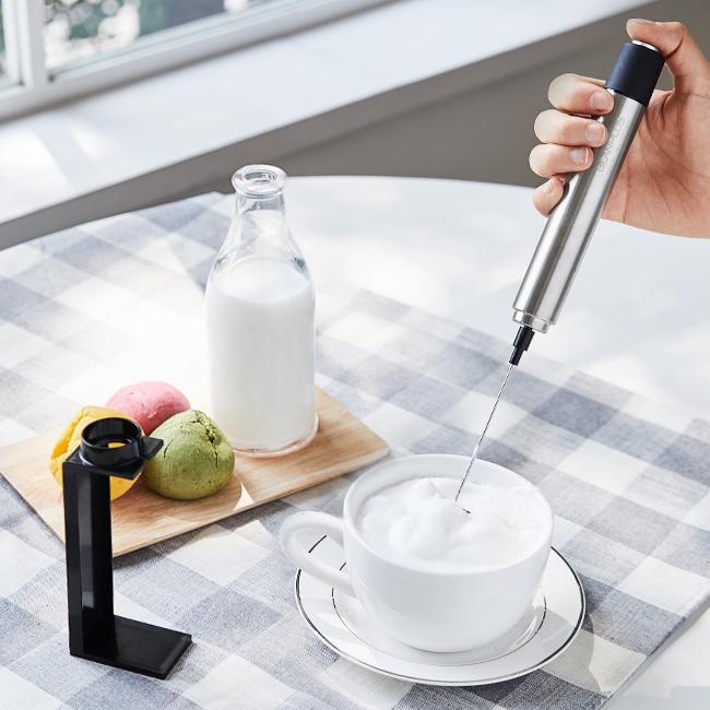 빈플러스 핸디형 전동 우유거품기, 핸디형 우유거품기(+거치대)
