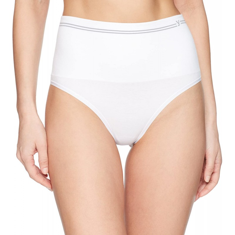 Yummie Women 's Cotton Seamless Shapewear Thong 흰색 중간 / 대형