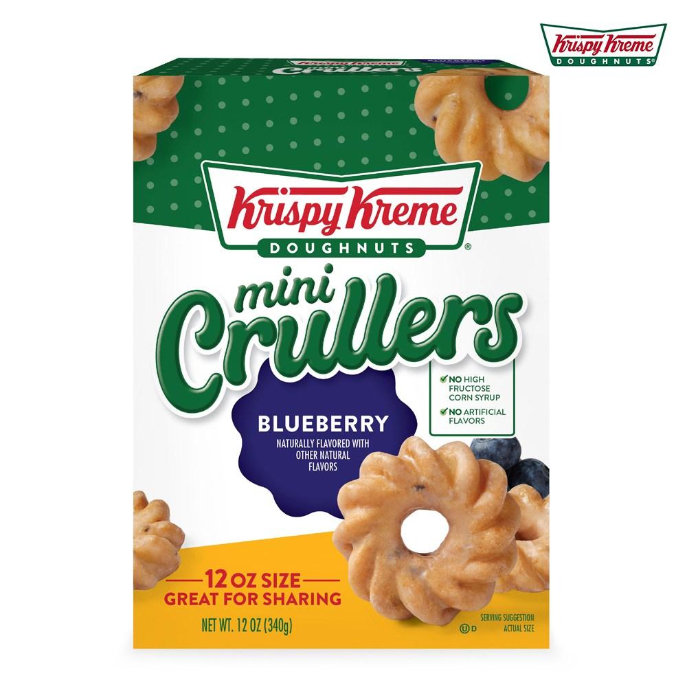 크리스피크림도넛 블루베리 미니 크롤러 340g, Krispy-Kreme-Blueberry-Crullers-12oz