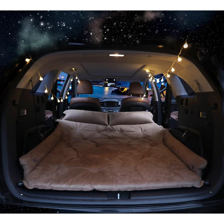 스위스마운틴 SUV전차종 자충식 차박매트+세트 / 차박필수템, 1.꿀잠 블랙세트