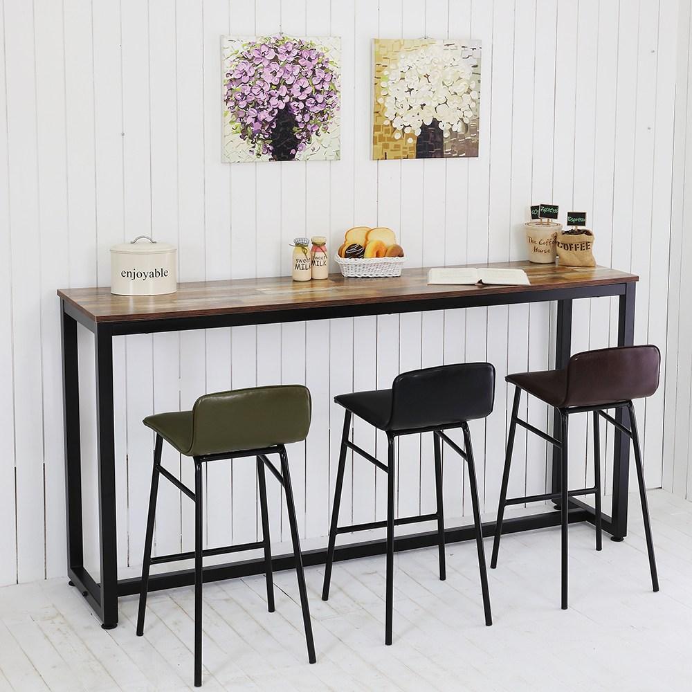 THEJOA [더조아] 홈바테이블 높은테이블 카페 인테리어 아일랜드식탁 홈바테이블 콘솔, 1800 빈티지브라운