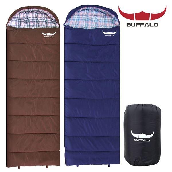 BUFFALO 포그니 침낭 캠핑 용품 컴팩트 경량침낭, 필수선택/허그침낭-레드