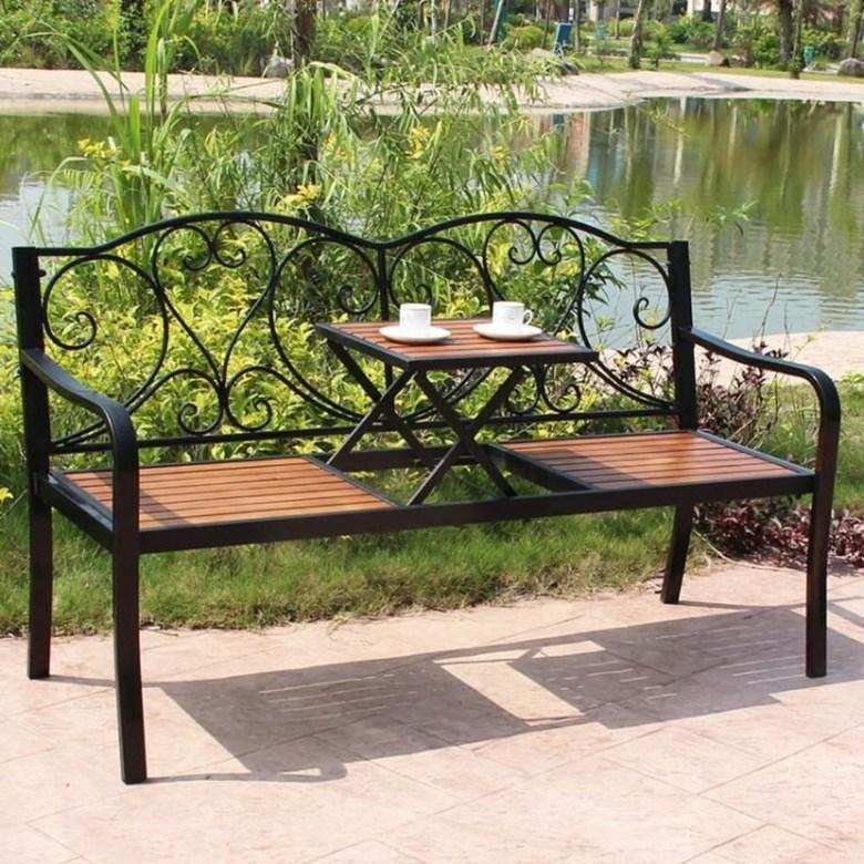 북유럽 정원 발코니 야외 티 테이블 세트 커피, C