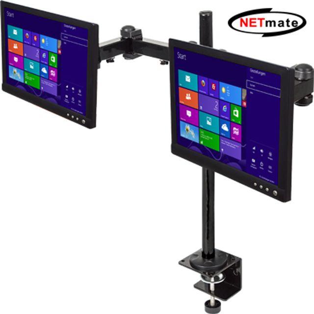 NETmate NMA-LM56 3단 관절형 듀얼 모니터 거치대, 쿠팡나옹이 본상품선택
