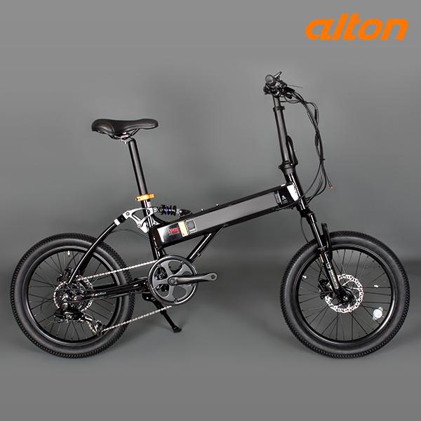 GIFT 전기자전거 2021 알톤 스트롤 FS 파스전용 8단, 20 블랙