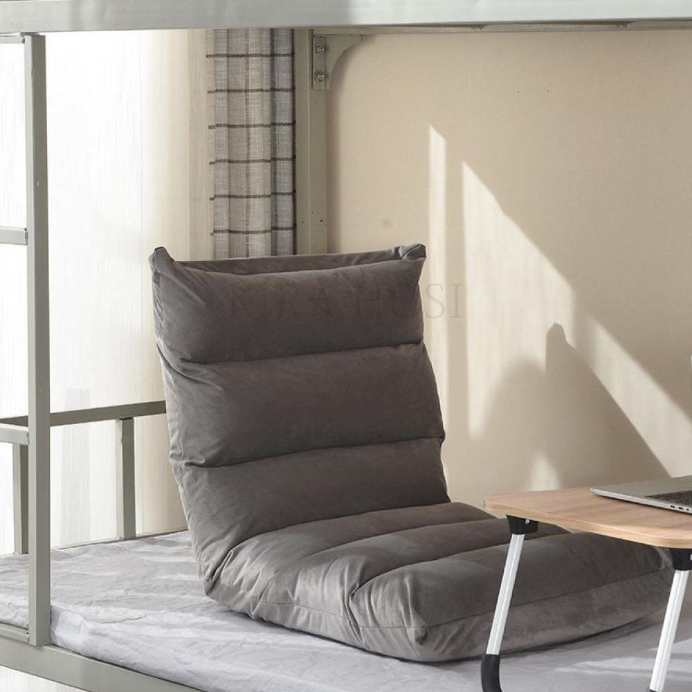 kirahosi 소파 접이식 일본스타일 기숙사 침실 등받이 의자 + 덧신증정 ANjo9mdc, 베이지 플리스 6